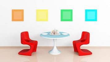 moderne interieur samenstelling. foto