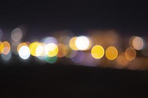 kleurrijke bokeh 's nachts