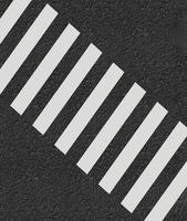 3D-weergave van zebrapad foto