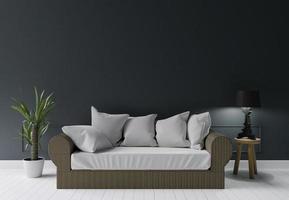 donkergroene moderne woonkamer