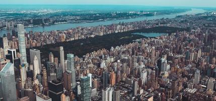 luchtfoto van manhattan