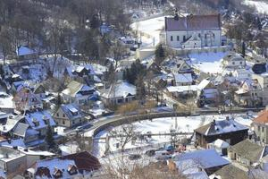 uitzicht op een stad in polen foto