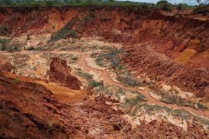 de irono-rivier in het tsingy rouge-reservaat foto