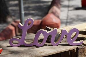 paars liefdesbord