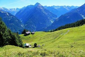 zomerlandschap in de alpen foto