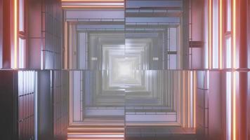 geometrische weerspiegelde patroon 3d illustratie achtergrond