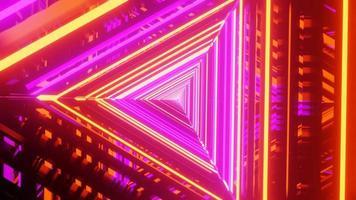 gespiegelde gloeiende felle lichten 3d illustratie