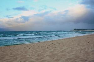 zonsondergang op een strand