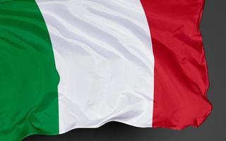 Italiaanse nationale vlag zwaaien foto
