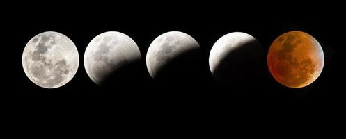 bloed maansverduistering foto