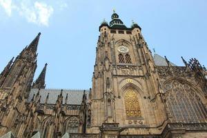 tsjechië, praag, kasteel hradcany en st vitus kathedraal