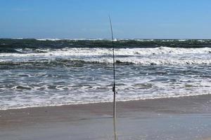 hengel op het strand