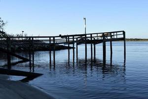 houten pier aan zee