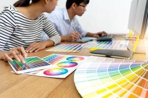 teamwerk voor grafisch ontwerp foto