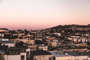 san francisco bij zonsondergang foto