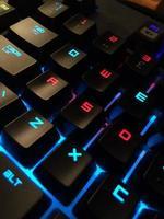 vergrote weergave van een computertoetsenbord