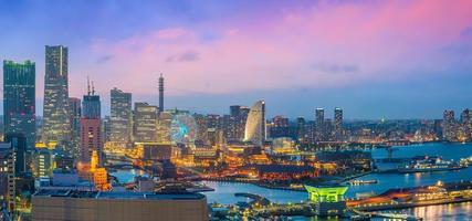 het centrum van Yokohama stad foto