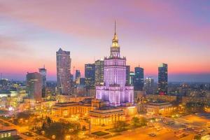 skyline van de stad Warschau