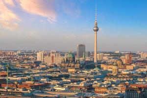 skyline van het centrum van Berlijn foto