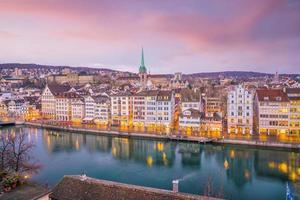 stadsgezicht van het centrum van Zürich in Zwitserland