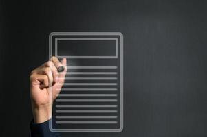 schrijven op notitieblok