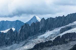aletschgletsjer in zwitserland foto