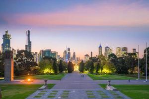 skyline van de stad Melbourne foto