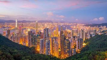 panoramisch uitzicht op de haven van victoria foto