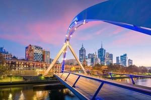 skyline van de stad Melbourne