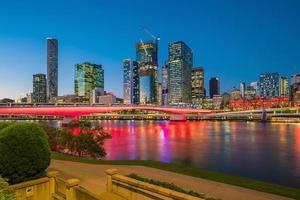 de skyline van de stad Brisbane foto