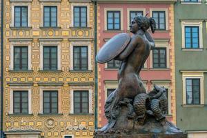 sculptuur van de zeemeermin van Warschau