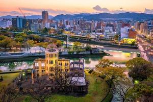 Hiroshima uitzicht op het park foto