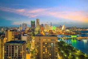 skyline van de stad Yokohama foto