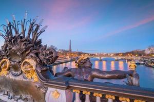 de alexander iii-brug in parijs, frankrijk foto