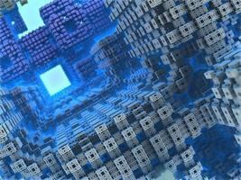 blauwe geometrische 3d render foto