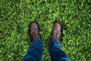 bruine nette schoenen foto
