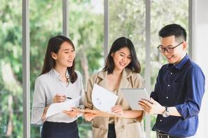 Aziatische business team