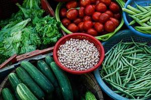 bovenaanzicht van diverse groenten