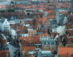 luchtfoto van gebouwen foto