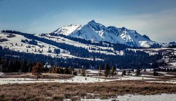 ijzige berglandschap