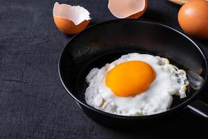 gebakken eieren in een koekenpan