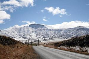 met sneeuw bedekte bergen in Zuid-Afrika