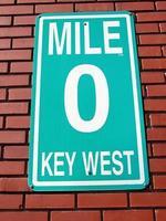 nul teken in Key West foto