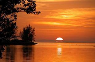 zonsondergang in key west, florida foto