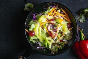 close-up van plantaardige salade