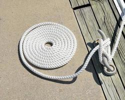 afmeren en touw foto