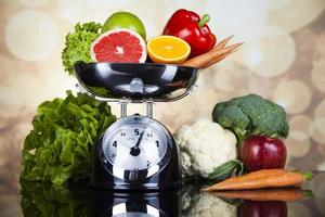 fitnessvoedsel, dieet, groentesamenstelling foto