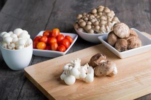 champignons maaltijd foto