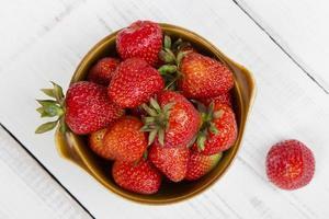biologische aardbeien foto