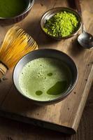 biologische groene matcha-thee